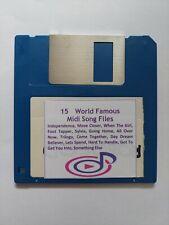 15 X World Famous MIDI Songs Files on  3.5 2DD Floppy Disk