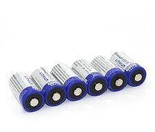6pcs 1500mAh Lithium CR123A 3V Battery EL123A CR17345 123a,more than Energizer