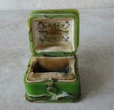 SUPERB RARE ART DECO MOTTLED BAKELITE RING BOX early plastic ANTIQUE RING BOX