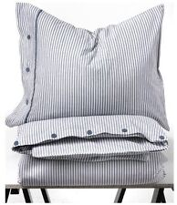 Beautiful White and Blue Striped Pattern Duvet Cover and Pillowcases Twin Size I