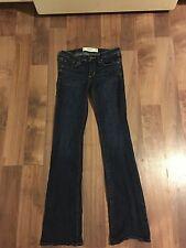 Abercrombie & Fitch Women's Denim Jeans Size 00S Boot Cut Dark Wash EUC
