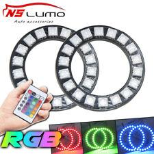 2pz 50MM Multicolore RGB 5050 LED Lampeggianti Angel Eyes Halo Anello