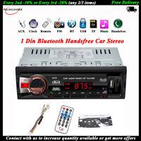 1Din Bluetooth Autoradio Stereo SD/AUX Mani libere In-dash WMA/EQ FM Lettore MP3