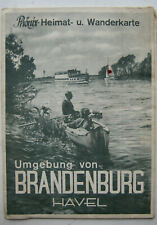 Brandenburg an der Havel Umgebungskarte Stadtplan Landkarte Phönix Wanderkarte