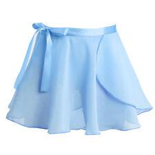 Girls Wrap Scarf Skirts Kids Ballet Gymnastics Skate Dance Dress Tutu Pettiskirt