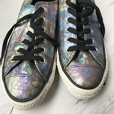 Womens Converse All Star OIL SLICK trainers Shoes Chuck Taylor 8 Leather NEW HTF