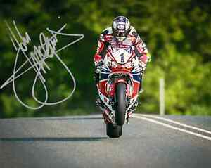 John McGuinness - 2015 Isle of Man TT Autographed 10 x 8 Picture.
