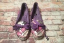Sperry Top-Siders Womens 8.5 M  Plaid flats Sequins faux fur lining flats9544602