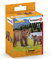 Schleich Grizzly bear mother with cub - 42473 - NEW!