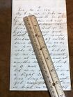 1863 Scarce Content Dead Wounded Civil War Union Letter Husband Harrison to Wife