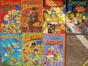 7 The Simpsons Comics (Approximately 115 pages per comics) - (2633)