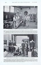 Scenes at SHEERNESS Gunnery School - Antique Photographic Print 1896