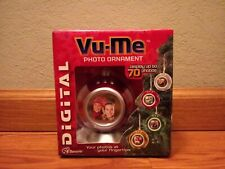 Vu-Me Digital Picture Frame Ornament Display 70 Photos Red Ornament
