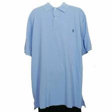 POLO RALPH LAUREN Blue Weathered Cotton Mesh Classic Fit Polo Shirt 2XLT