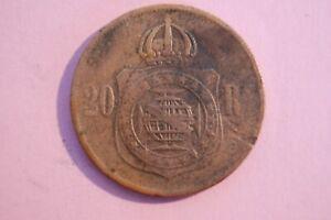 BRAZIL 1868 PETRUS II 20 REIS BRONZE COIN