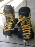 Used Dominion Intrepid Canada Roller Skates Men's Size 5 Indoor Atom Snap Wheels