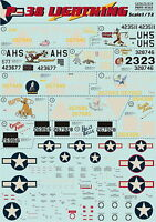 Print Scale 72-016 Decal for P-38 Lightning 1:72