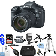Canon EOS 7D Digital SLR Camera W/ EF-S 18-135mm IS Lens Kit PRO BUNDLE NEW