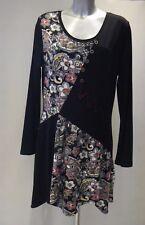 RARE London Black Fringed Maxi Dress Size 14 Nes