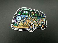 Patch Van Hippie Nature Parche Placlar Iron Colors Scout Vehicle hippy flowers