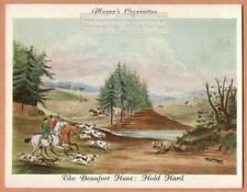 """Beaufort Fox Hunt With Hounds """"Hold Hard"""" 1930s Ad Trade Card"""
