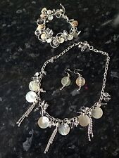 Shell And Bead Necklace, Bracelet & Earrings Set