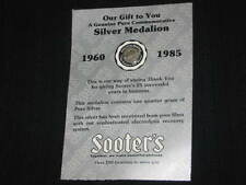SOOTER'S GENUINE COMMEMORATIVE SILVER MEDALLION ONE QUARTER GRAM OF PURE SILVER
