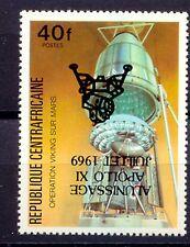 ZENTRALAFRIKANISCHE REPUBLIK 1979 Mondlandung 40 F. ABART KOPFSTEHENDER AUFDRUCK