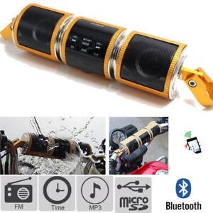Motorcycle Audio Sound System Bluetooth MP3 FM Radio Stereo Speaker For Kawasaki