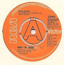 "MAMA CASS ELLIOT 7"" DEMO - BABY I'M YOURS + CHERRIES JUBILEE - RCA 1972"