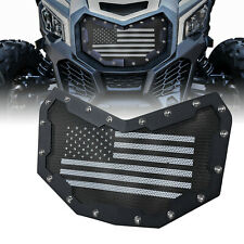 For 2017-2020 Can-Am Maverick X3 Steel Front Bumper Mesh Grill Grille Insert Kit