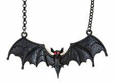 "Bat Pendant Red stone Eye Goth Punk Premium Quality 20"" Chain"