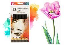 12 Acquerello Artista Matite Per Disegno Pittura Arte Disegno colore d'acqua UK