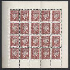 France stamps 1F20 Pétain 20 stamp in MarginSheet  MNH  VF  HIGH VALUE