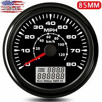 85mm GPS Speedometer 120km/h Odometer 0-80MPH 8 Colors LCD Trip Gauge Waterproof