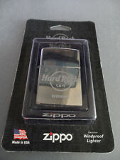Hard Rock Cafe Reykjavik - Zippo Lighter - Polished Silver Chrome AUTHENTIC !!