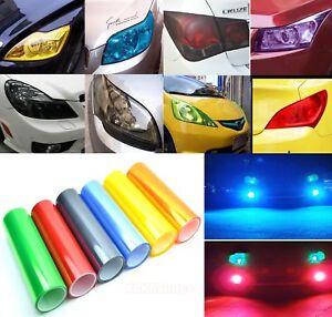 11 Colors Car Headlight Taillight Vinyl Wrap Glossy Matte Tint Film Sticker - CB