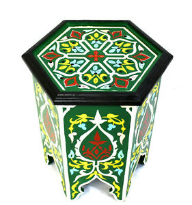 Moroccan Side Table Accent End Corner Piece Green Authentic Home Decor Size 3