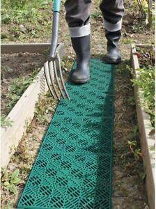 20pc Green Plastic Garden Tiles Outdoor Decking Interlocking Instant Path Decor