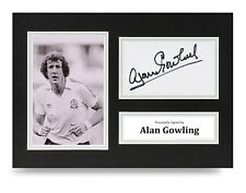 Alan Gowling Signed A4 Photo Display Bolton Wanderers Autograph Memorabilia COA