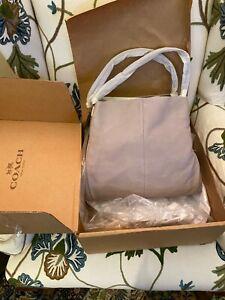 "NWT COACH Madison Leather Phoebe ""Grey Birch"" (Taupe) Large Shoulder Bag #24621"