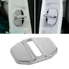 1pc Auto Decor Accessories Stainless Steel Door Lock Protector Covers For Benz