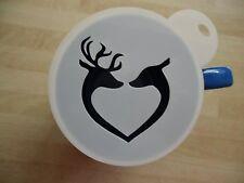 100mm stag heart design craft stencil and coffee stencil