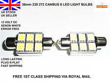 2x 36mm Led Bright Xenon White Car Festoon Canbus Interior Light Bulbs Lamps 12v