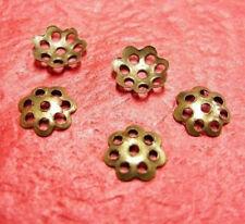 100pc 6mm antique bronze finish filigree bead cap-2000A