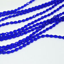 50pcs 5x3mm Navy blue Faceted Teardrop crystal glass Jade Spacer beads!