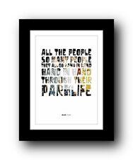 More details for blur parklife #2  ❤  song lyrics typography poster art print