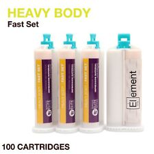 Element HEAVY BODY VPS PVS Impression Material FAST Set 100 X 50ML Dental