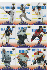 1996 Assets CLEAR ASSETS Complete 9 card Baseball/Hockey subset--