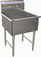 """1 Compartment Prep Sink 24""""x24"""" Stainless Steel NSF"""
